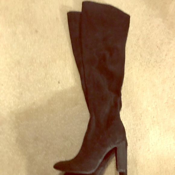 Unisa Shoes - Over The Knee Black Suede Boots